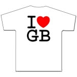 Gorilla Biscuits I Love GB On White T-Shirt