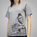 Gorilla Biscuits Gorilla Sideprint On Gray T-Shirt