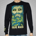 Grave Maker Face Black Long Sleeve Shirt