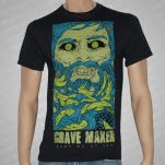 Grave Maker Face Black T-Shirt