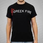 Greek Fire Logo Black T-Shirt