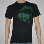 Guns For Glory Green Lips Black T-Shirt