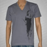 Guns For Glory Melt With Me V Neck Gray T-Shirt