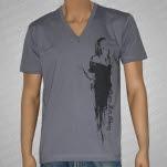 Guns For Glory Melt With Me V Neck Gray T-Shirt
