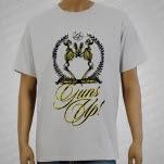 Guns Up Skeletons Light Gray T-Shirt
