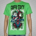 Gwen Stacy Girl Collage Lime Green T-Shirt