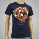Handguns Bouquet Navy T-Shirt