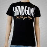 Handguns Dont Bite Your Tongue Black T-Shirt