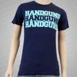Handguns Sink Like Lead Navy T-Shirt