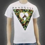Handguns Triangle White T-Shirt