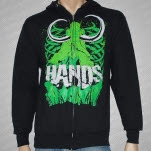 Hands Green Mammoth Black Hoodie Zip