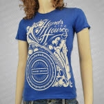 Hands Like Houses Flowery Print Royal Blue Girls T-Shirt
