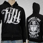 Hands Like Houses Impact Black Hoodie Zip
