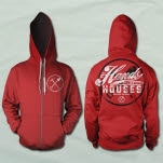 Hands Like Houses Pick Axe Red Hoodie Zip