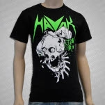 HAVOK Skull Brains Black T-Shirt