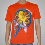 Heavy Heavy Low Low Ninja Surfers Orange T-Shirt