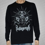 Hellmouth Gas Mask Gray Print Black Long Sleeve Shirt