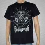 Hellmouth Gas Mask Gray Print Black T-Shirt