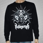 Hellmouth Gas Mask White Print Black Long Sleeve Shirt