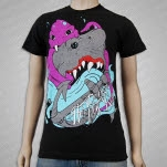 Her Demise My Rise Shark Vs Octopus Black T-Shirt