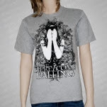 Here I Come Falling Covered Eyes Heather Gray T-Shirt