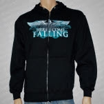 Here I Come Falling Eagle Black Hoodie Zip