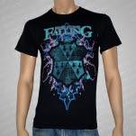 Here I Come Falling Neon Shield Black T-Shirt