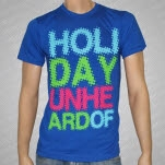 Holiday Unheard Of Stacked Logo Blue T-Shirt