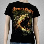 Hope For The Dying Dragon Head Black T-Shirt