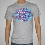 Hopes Die Last Flower Logo Heather Gray T-Shirt