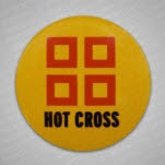 Hot Cross Squares Pin