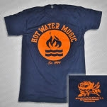 official Hot Water Music 1994 Flame Navy T-Shirt
