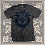 Hot Water Music Compass Charcoal T-Shirt