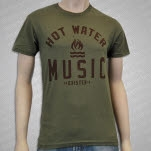 Hot Water Music Exister Army Green T-Shirt