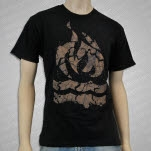 Hot Water Music Fire Logo Black T-Shirt