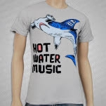 Hot Water Music Hammerhead Silver T-Shirt
