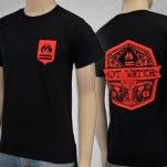 Hot Water Music Red Logo Black T-Shirt