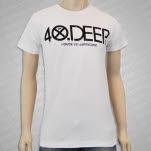 House vs Hurricane 40 Deep White T-Shirt