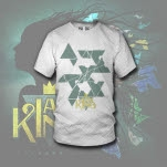 I Am King Shattered White T-Shirt