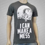 official I Can Make A Mess Hemlet Head Grey T-Shirt