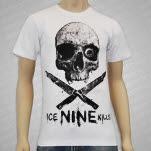 Ice Nine Kills Crossed Knives White T-Shirt