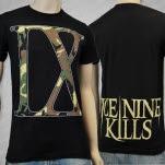 Ice Nine Kills IX Camo on Black T-Shirt