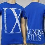 Ice Nine Kills IX White on Royal Blue T-Shirt