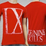 Ice Nine Kills IX White on Red T-Shirt