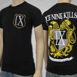 Ice Nine Kills Shield Black T-Shirt