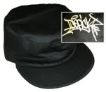 Icepick Graffiti Logo Black Military Cap