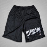 I Declare War Horizontal Logo Black Mesh Shorts