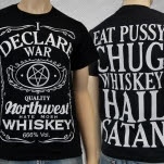 I Declare War Hail Satan Black T-Shirt