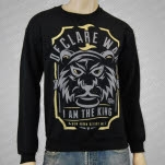 I Declare War King Black Crewneck Sweatshirt