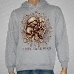I Declare War Skull Teeth Heather Gray Pullover